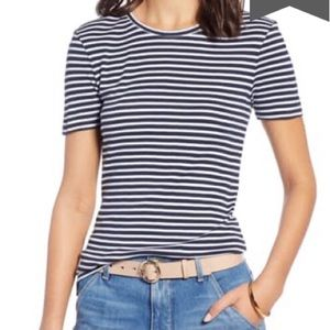 🌷3 for $15!🌷 NWOT 1901 Striped Crewneck Tee
